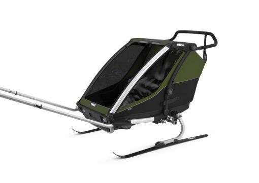 thule chariot cab cypress green skiing kit