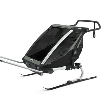 thule chariot lite agave skiing kit