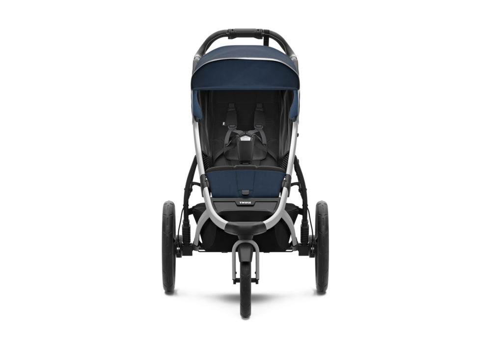 thule urban glide 2 majolica blue sits front