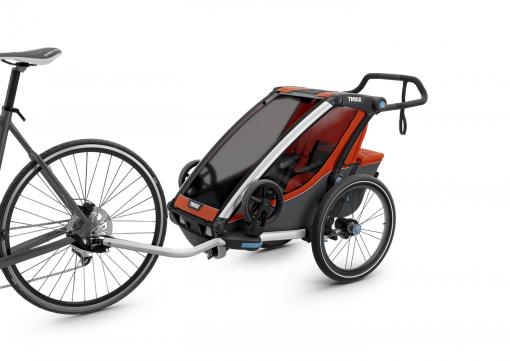 thule chariot cross 1 med cykelkit