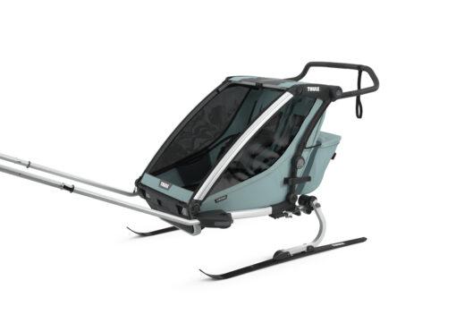 thule chariot cross 2 alaska skiing kit
