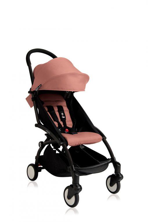babyzen yoyo rosa sittdel svart chassi