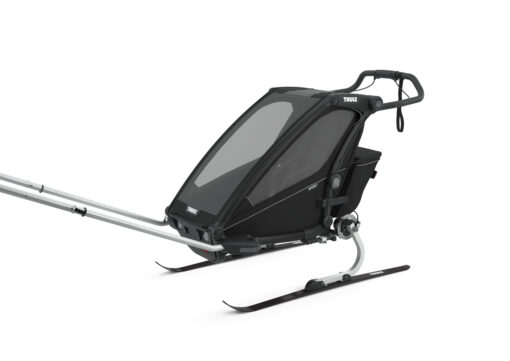 thule chariot sport midnight black skiing