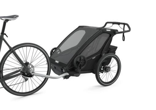 thule chariot sport 2 midnight black cykelkit monterad