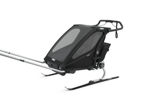 thule chariot sport 2 midninght black skiing kit