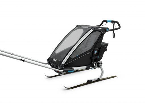 thule chariot sport black skidor