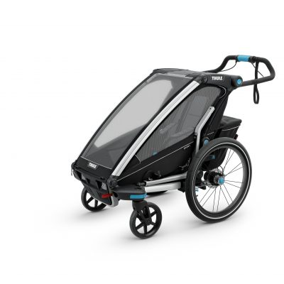 thule chariot sport 1 black barnvagn