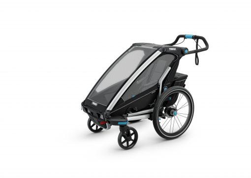 thule chariot sport 1 black barnvagn