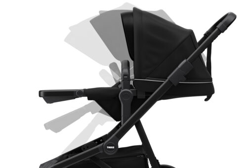 thule sleek midnight black on black reglerbar sittdel