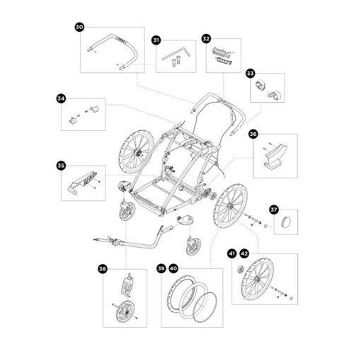 thule chariot sport 2 reservdelar