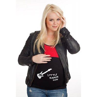 mamaband tröjförlängning gravidmage med gitarr