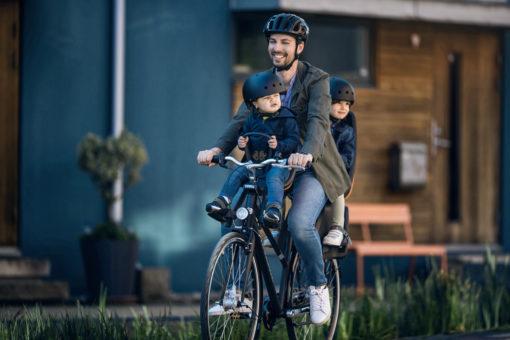 thule yepp next mini cykelbarnstol monteras fram