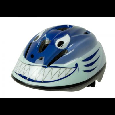cykelhjälm barn blå haj