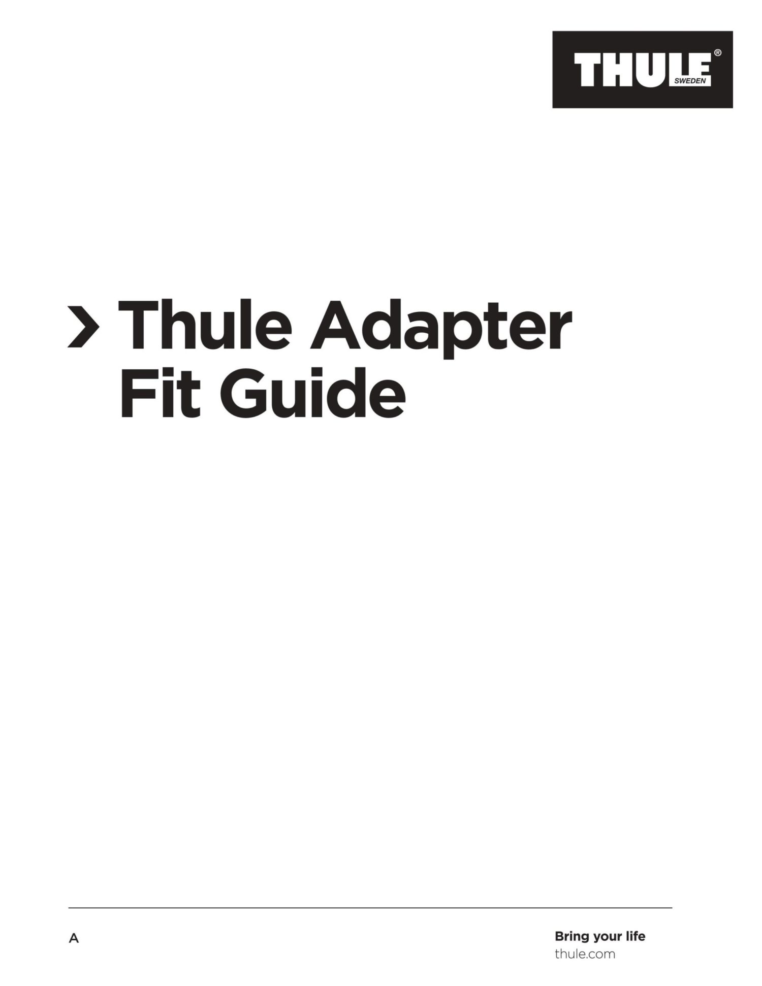 thule axle adapter cykel guide