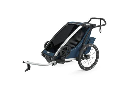 thule chariot cross majolica blue cykling