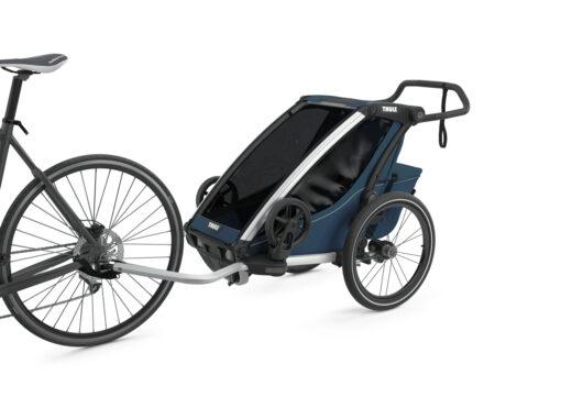 thule chariot cross majolica blue cykel