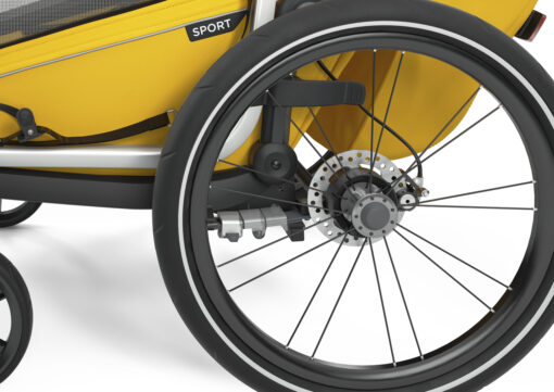 thule chariot sport black spectra yellow justerbar fjädring