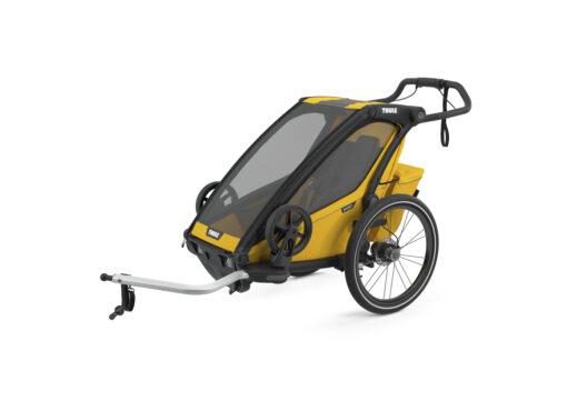 thule chariot sport black spectra yellow cykel kit