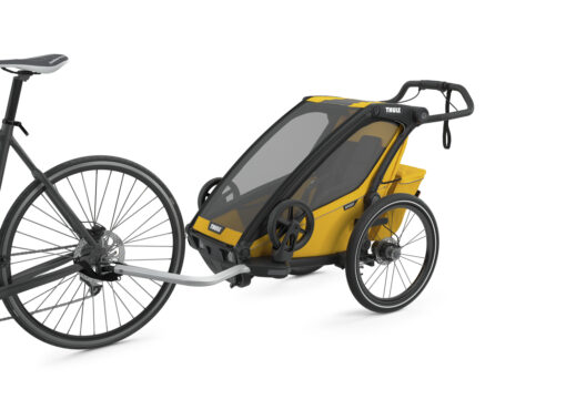 thule chariot sport black spectra yellow cykelvagn