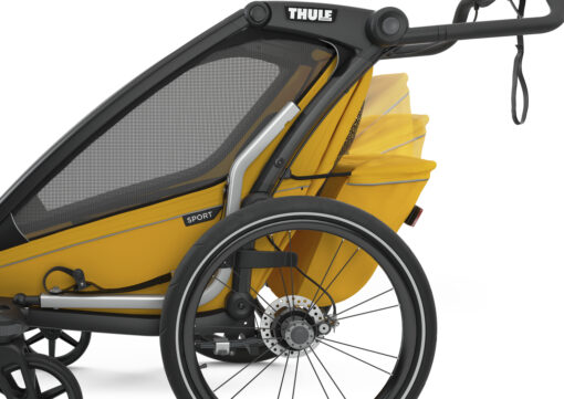 thule chariot sport black spectra yellow cargo bag