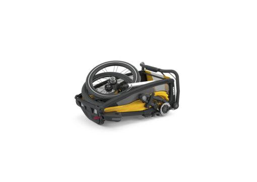 thule chariot sport black spectra yellow ihopfälld