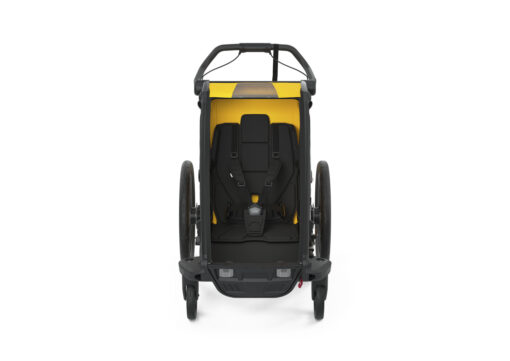 thule chariot sport black spectra yellow interior