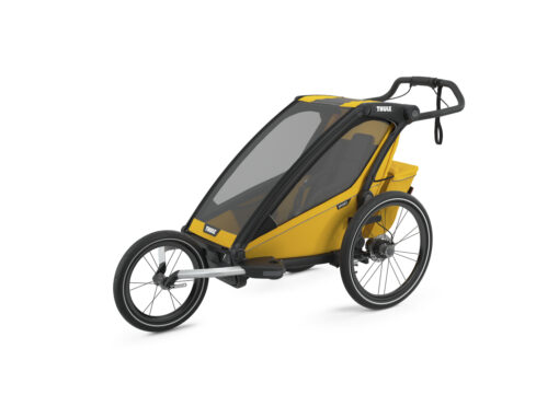 thule chariot sport black spectra yellow jogging