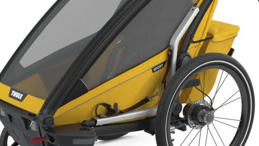 thule chariot sport black spectra yellow hållare för cykelarm