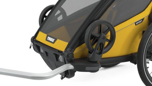 thule chariot sport black spectra yellow promenadhjul hållare