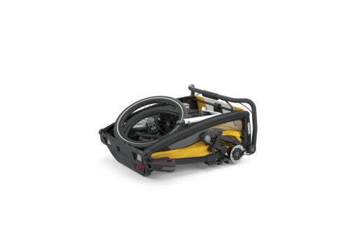 thule chariot sport 2 black spectra yellow ihopfälld