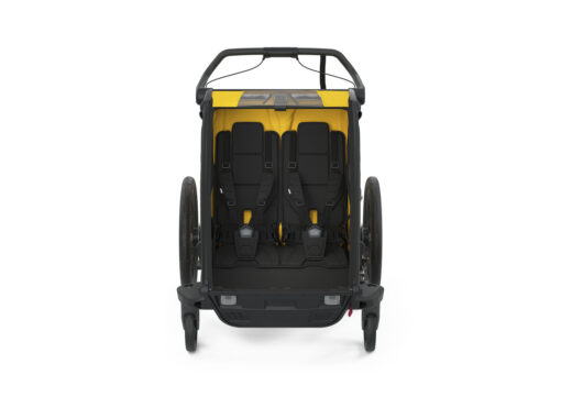 thule chariot sport 2 black spectra yellow interior