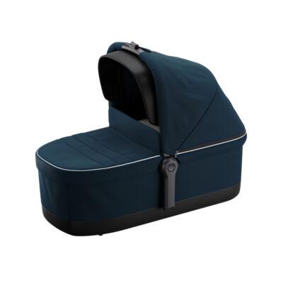 thule sleek navy blue bassinet