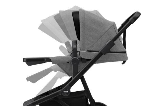 thule sleek grey melange on black reglerbar sittdel