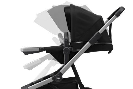 thule sleek midnight black reglerbar sittdel