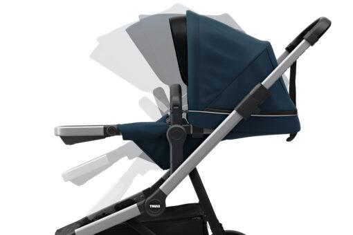 thule sleek navy blue reglerbar sittdel