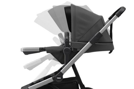 thule sleek shadow grey ställbar sittdel