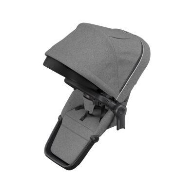 thule sleek sibling seat grey melange on black