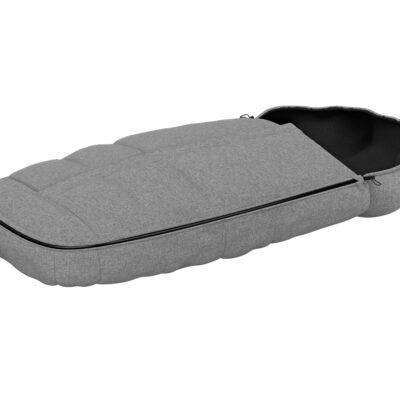 thule footmuff grey melange