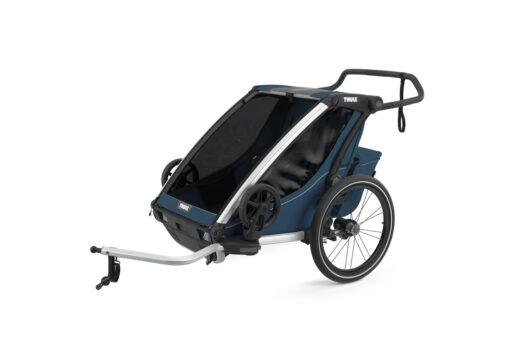 thule chariot cross 2 majolica blue cykel kit