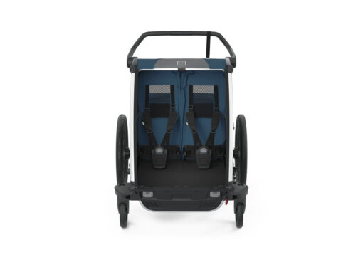 thule chariot cross 2 majolica blue interior