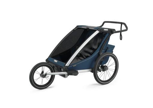 thule chariot cross 2 majolica blue jogging kit